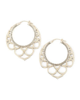 John Hardy Naga Medium Silver Lace Hoop Earrings