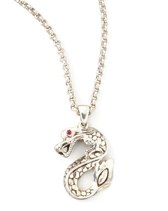 Naga Dragon S-Pendant Necklace