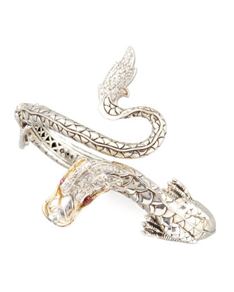 Pave Diamond Naga Dragon Cuff