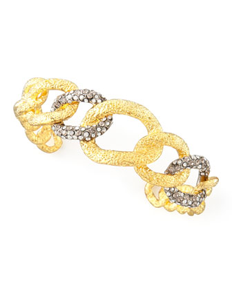 Cordova Antiqued Chain Cuff, Golden