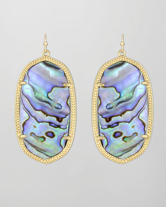 Danielle Earrings, Abalone