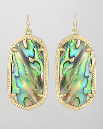 Elle Earrings, Abalone