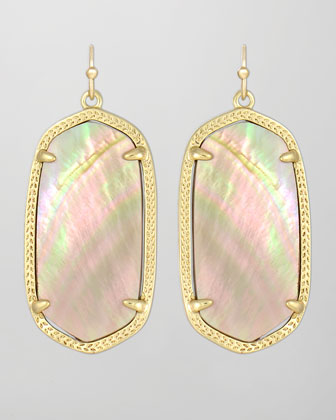 Elle Earrings, Brown Mother-of-Pearl