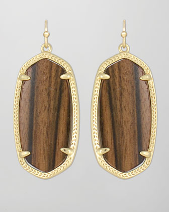 Elle Earrings, Ebony Wood