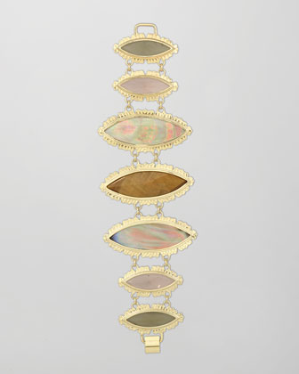 Sarita Bracelet, Brown Mother-of-Pearl