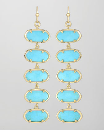 Ives Earrings, Turquoise
