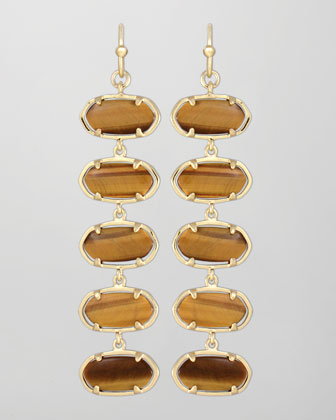 Ives Earrings, Tiger's Eye