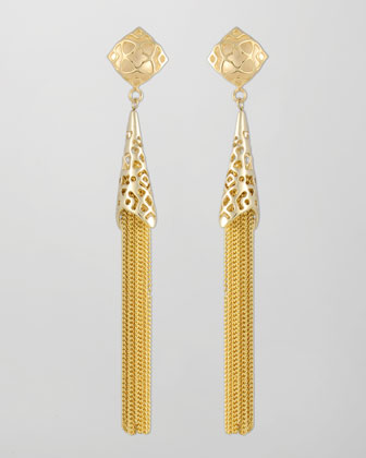 Teishya Gold Tassel Earrings