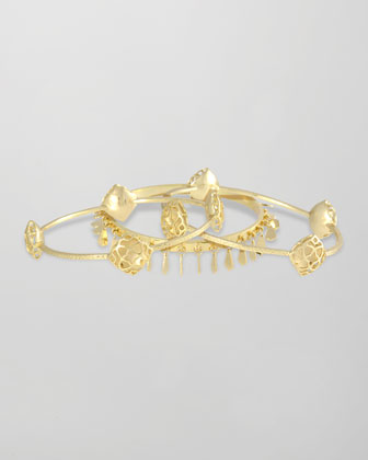 Elin Bangle Bracelets, Set of 3