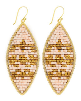 Nakamol Beaded Leaf-Shape Earrings