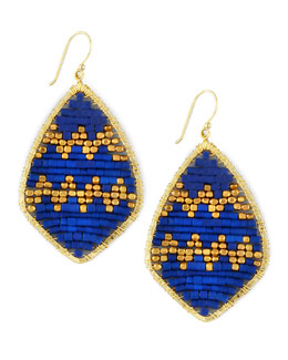 Nakamol Beaded Teardrop Earrings, Blue