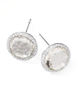 Ippolita Rock Candy Diamond Quartz Stud Earrings