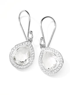 "Ippolita Rock Candy Diamond Quartz Teardrop Earrings, 4/5""L"