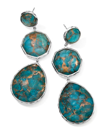 Wonderland Silver Crazy-Eight Turquoise Earrings