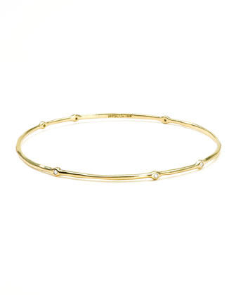 Superstar 18k Gold Diamond #6 Bangle