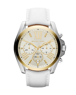 Michael Kors  Mid-Size Two-Tone Stainless Steel Bradshaw Chronograph Watch