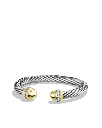 Cable Classics Bracelet with Diamonds and Gold
