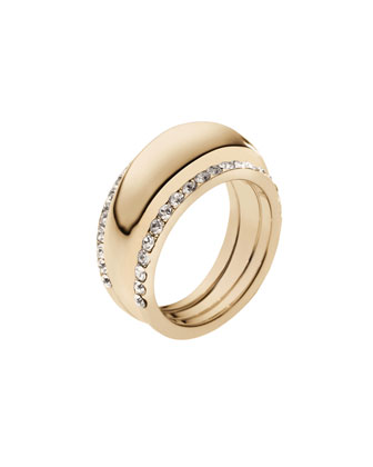 Pave-Insert Ring, Golden