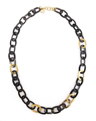 Bronze & Horn Link Mara Necklace