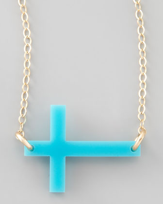 Acrylic Integrated Cross Necklace