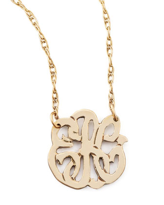 Mini Gold-Fill Script Monogram Pendant Necklace