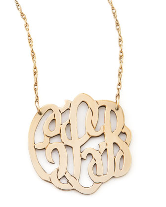 Small Gold-Fill Script Monogram Pendant Necklace