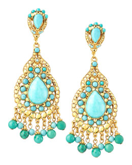 Jose & Maria Barrera Turquoise Statement Earrings