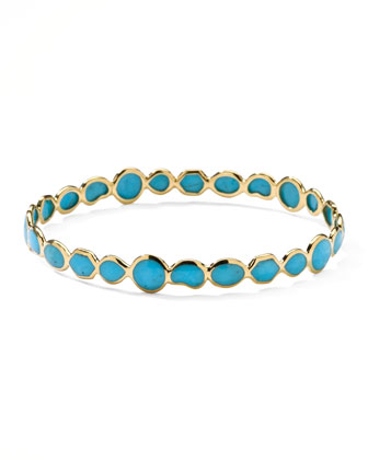 Gold Rock Candy Bangle, Turquoise