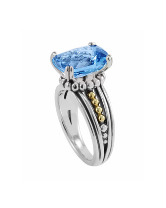Blue Topaz Prism Ring