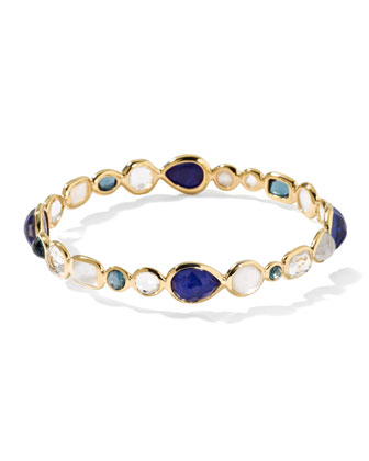 18k Gold Rock Candy Gelato Bangle, Corsica