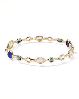 18k Gold Rock Candy Open Gelato Bangle, Corsica
