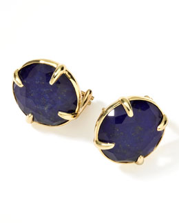Ippolita 18k Gold Rock Candy Gelato Lapis Stud Earrings