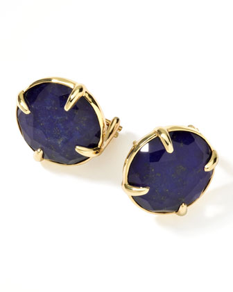 18k Gold Rock Candy Gelato Lapis Stud Earrings