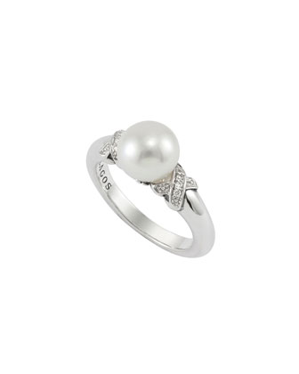 Luna Pearl & Diamond Ring