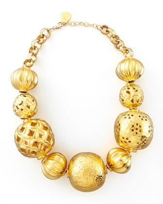 Golden Ball Necklace