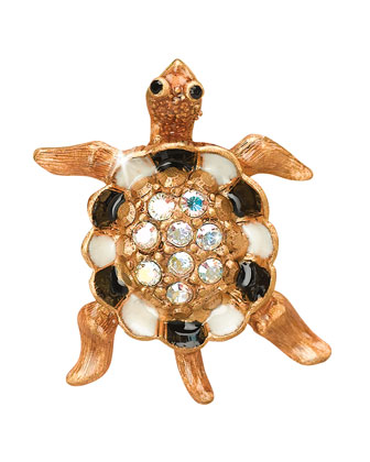 Turtle with Pave Shell Tack Pin
