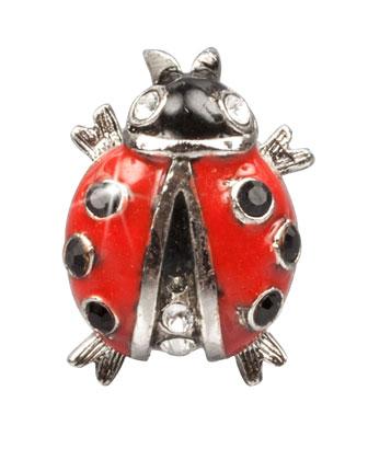 Red Ladybug Tack Pin