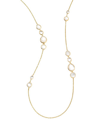 18k Gold Rock Candy Long Gelato Station Necklace, Flirt