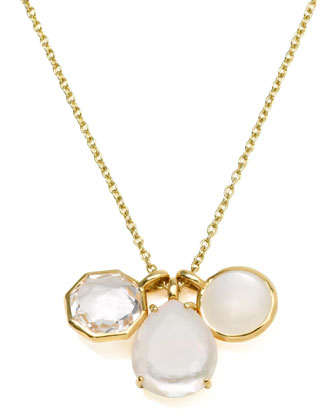 18k Gold Rock Candy Gelato 3 Mini Pendant Necklace, Flirt