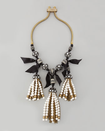 Pearly-Tassel Necklace