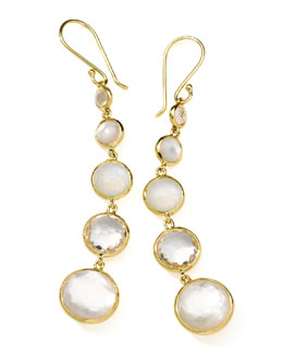 Ippolita 18k Gold Rock Candy Lollitini Mother-of-Pearl Earrings