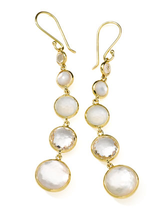 18k Gold Rock Candy Lollitini Mother-of-Pearl Earrings