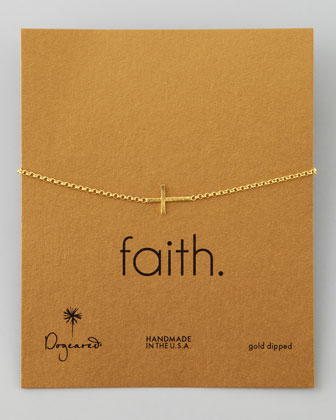 Faith Golden Integrated Small Cross Bracelet
