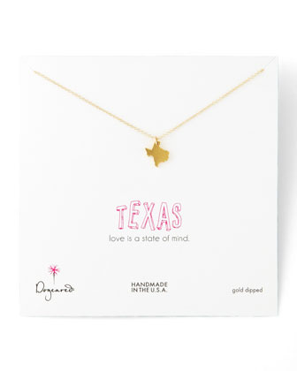 Gold Vermeil State Charm Necklaces