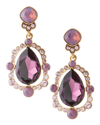 Chandelier Crystal Earrings, Aubergine