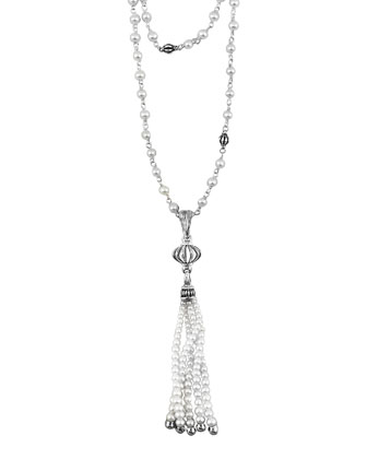 Luna Pearl-Tassel Necklace