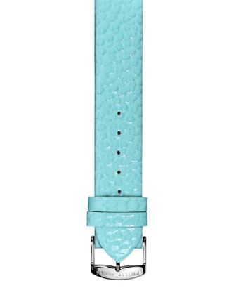 18mm Small Grainy Calfskin Strap, Turquoise