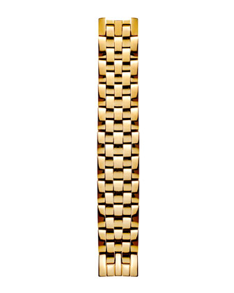 Mini Gold Watch Head & 5-Link Bracelet