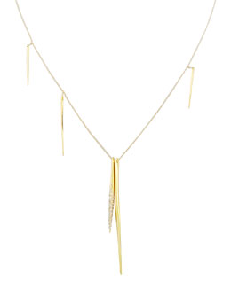 Alexis Bittar Golden Spear Necklace