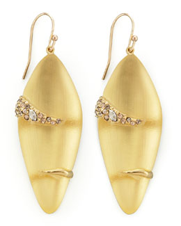 Alexis Bittar Durban Small Lucite Earrings, Golden